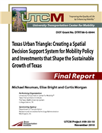 Cover of Texas Urban Triangle: Creating a Spatial Decision Support System for Mobility Policy