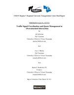Cover of Traffic Signal Coordination and Queue Management in Oversaturated Intersection