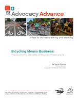 Cover of Bicycling Means Business: The Economic Benefits of Bicycle Infrastructure