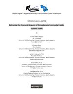 Cover of Estimating the Economic Impacts of Disruptions to Intermodal Freight Systems Traffic