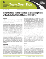Motor Vehicle Traffic Crashes as a Leading Cause of Death in