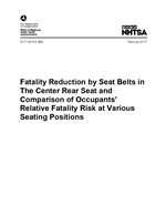 Fatality Reduction by Seat Belts in the Center Rear Seat and