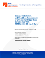Design, Installation, and Condition Assessment of a Concrete