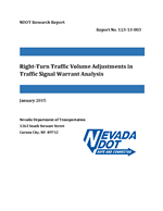 Right-Turn Traffic Volume Adjustments in Traffic Signal Warrant Analysis