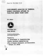 COST/BENEFIT ANALYSIS OF THERMAL SHIELD COATINGS