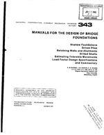 MANUALS FOR THE DESIGN OF BRIDGE FOUNDATIONS