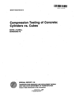 Cover of COMPRESSION TESTING OF CONCRETE: CYLINDERS VS. CUBES
