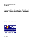 Cover of CORROSION EFFECTS OF MAGNESIUM CHLORIDE AND SODIUM CHLORIDE ON AUTOMOBILE COMPONENTS