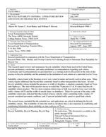BICYCLE SUITABILITY CRITERIA: LITERATURE REVIEW