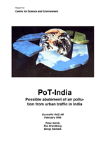 Cover of POT-INDIA: POSSIBLE ABATEMENT OF AIR POLLUTION FROM URBAN TRAFFIC IN INDIA