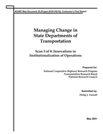 MANAGING CHANGE IN STATE DEPARTMENTS OF