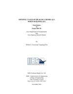 Cover of Optimal Usage of De-icing Chemicals When Scraping Ice