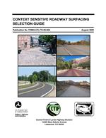 Context Sensitive Roadway Surfacing Selection Guide