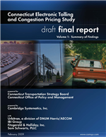 Cover of Connecticut Electronic Tolling and Congestion Pricing Study. Volume 1: Summary of Findings