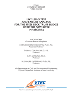Cover of Live Load Test and Failure Analysis for the Steel Deck Truss Bridge Over the New