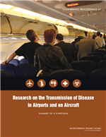 Cover of Research on the Transmission of Disease in Airports and on Aircraft: Summary of a Symposium