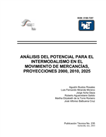 Cover of Analisis del potencial para el intermodalismo en el movimiento de mercancias, proyecciones 2000, 2010, 2025
